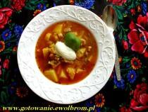 Zupa gulaszowa z cukinią i papryką