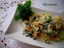 Jarskie danie z dzikim ryżem