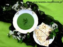 Zupa krem ze szpinaku i pokrzywy