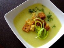 Zupa krem z selerem i porem