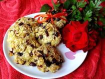 Żurawinowo – orzechowe ciasteczka bez mąki