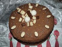 Tort czekoladowo – chałwowy