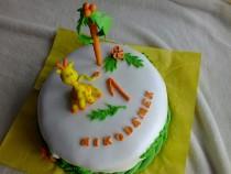 Tort gruszkowy z masą Kinder