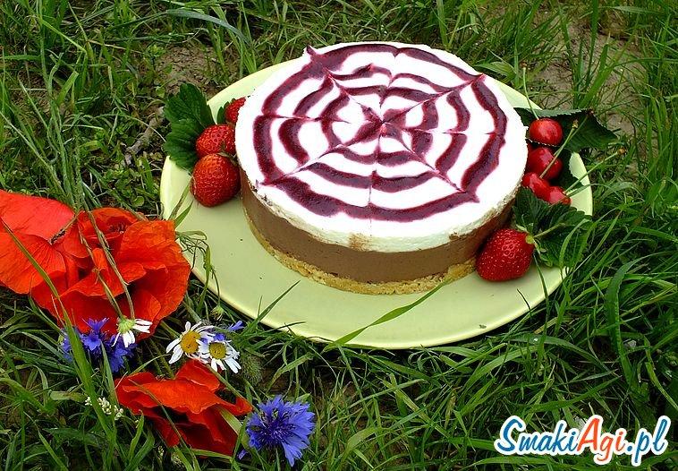 ciasto bez pieczenia, ciasto czekoladowo - owocowe