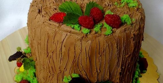 Tort o smaku truflowo – kokosowym z nutą czerwonej porzeczki