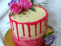 Tort czekoladowo – porzeczkowy
